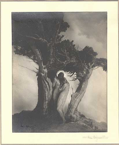 The Heart of the Storm, Vintage silver print, 1910.