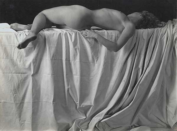 Reclining Nude, Vintage silver print, ca. 1933.