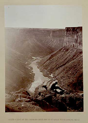 Grand Canon of the Colorado, Mouth of Kanab Wash, Looking West, Albumen print, 1872.