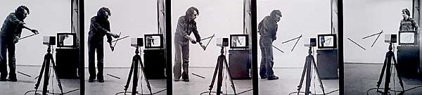 Video Installation Exercise, Vintage silver prints, 1978.